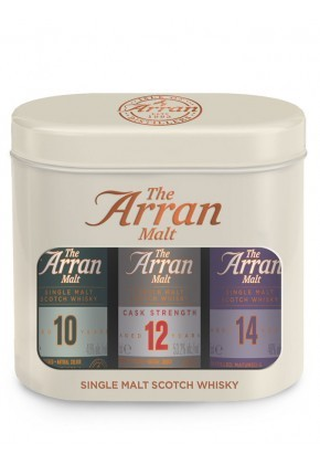ARRAN Triple Pack 10 ans, 12 ans CS, 14 ans Single Malt Whisky, Ecosse / Highlands-arran, Of | 48,4%