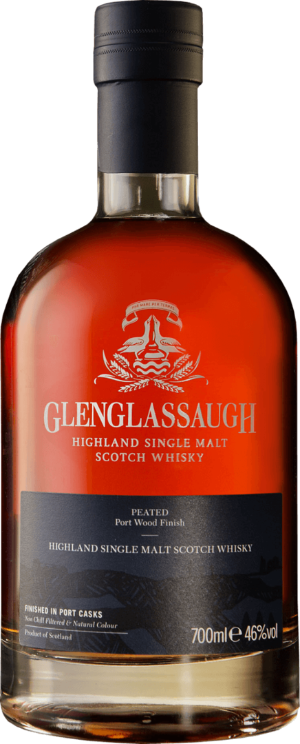 GLENGLASSAUGH  PEATED PORT FINISH | 46% -  70 cl